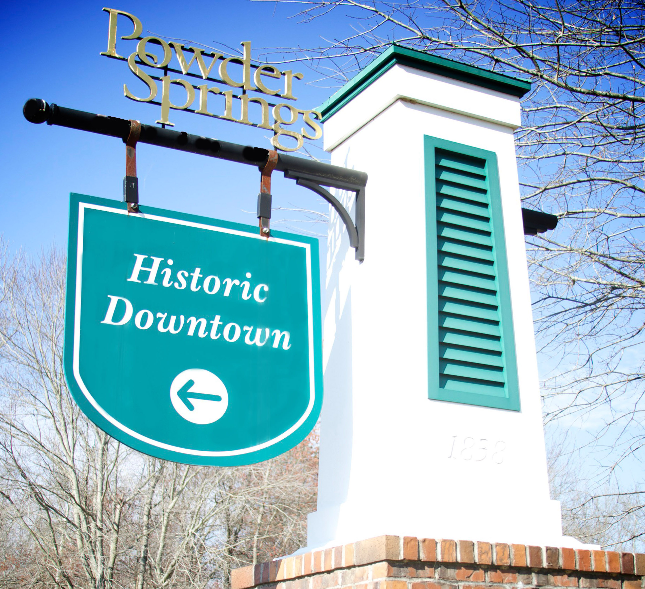 Powder Springs Historic Sign