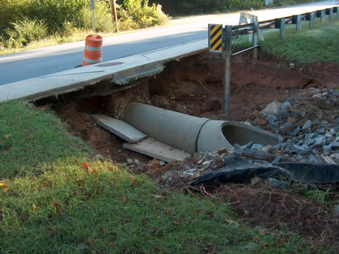 Cement storm drain on Ship Road