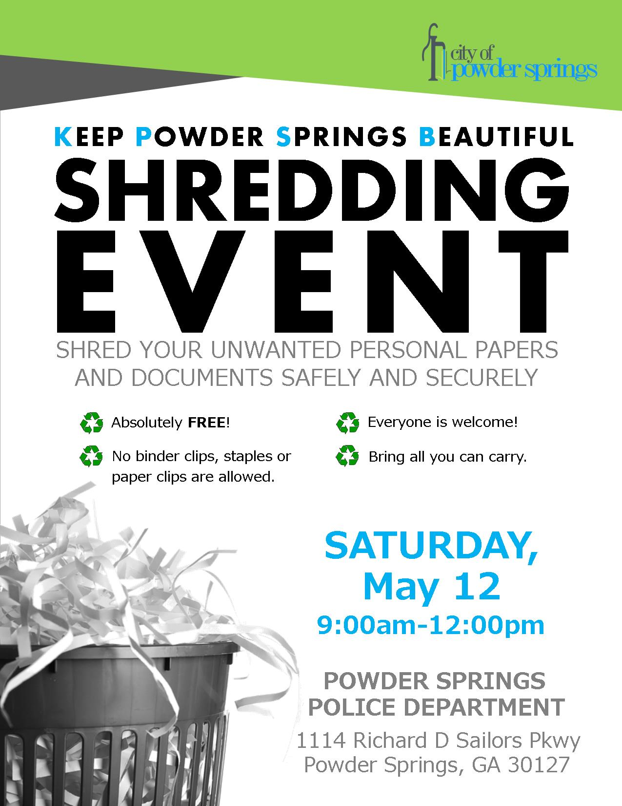 Shredding Event Flyer_2018