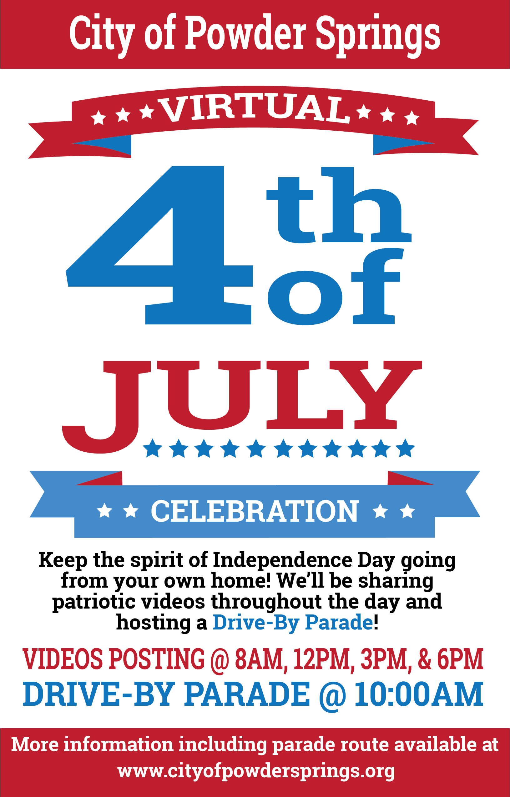 Virtual 4th of July Celebration poster