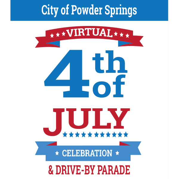 Virtual 4th of Ju,y Celebration Social Media graphic